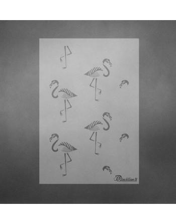 Flamingo- trafaretas