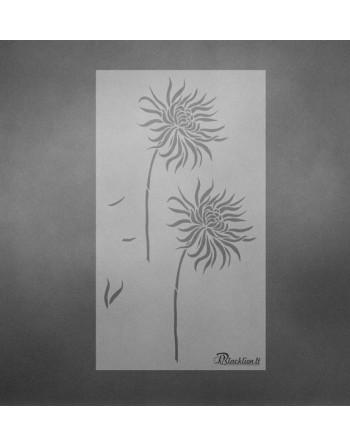 Gėlės žiedas - trafaretas