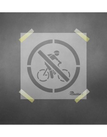 Draudžiama važinėti dviračiu