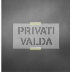 Privati valda- trafaretas