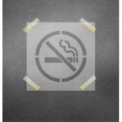 Draudžiama rūkyti - trafaretas