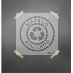 Metalo atliekos - trafaretas