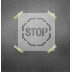 STOP ženklas - trafaretas